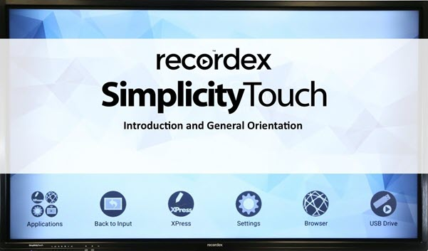 Recordex Simplicity Touch Video